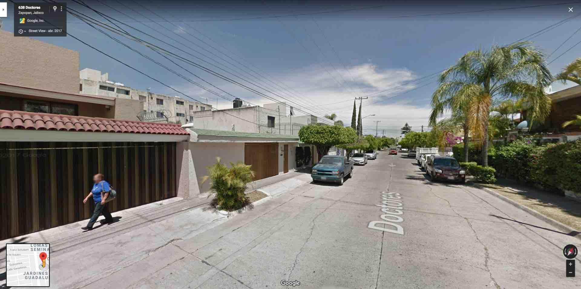 Fracc. Jardines de Guadalupe, Doctores 634, Zapopan, Jal. C.P. 45030